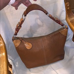 Auth Dooney & Burke hobo brown leather size Small
